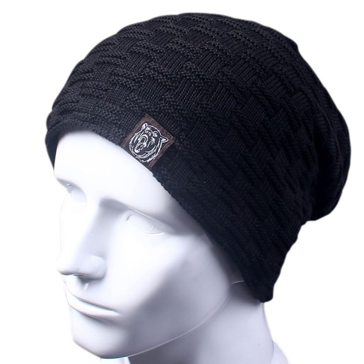 Casual Brand Men Winter Hat Beanie Hats Fur Warm Baggy Knitted Skullies Bonnet Ski Sports Adult Cap New Arrival Beanies   Price: 5.49 USD