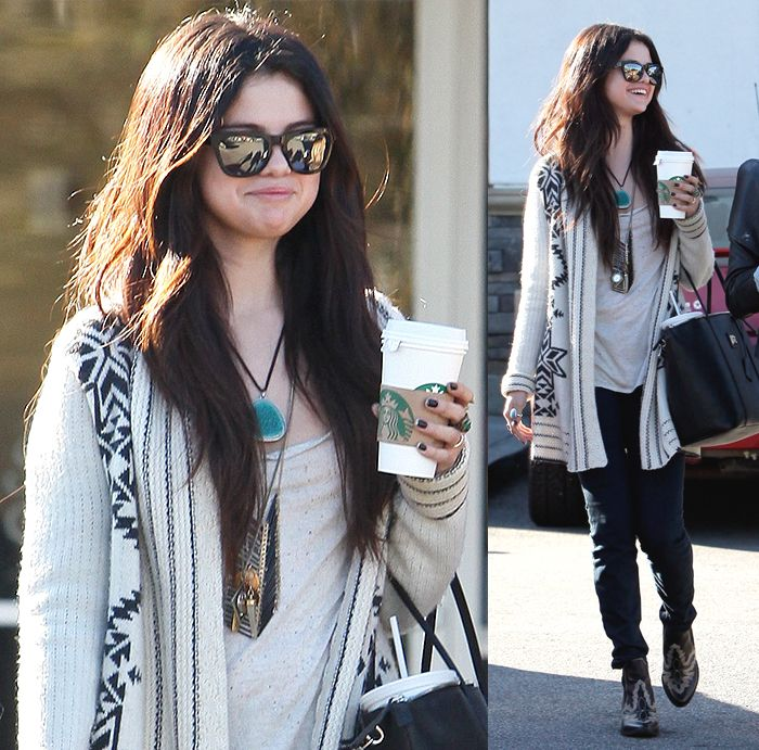 selena gomez tribal print sweater celebrity everyday