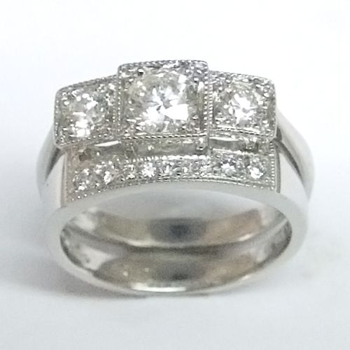 55 Best Diamond Fitted Wedding Rings Images On Pinterest