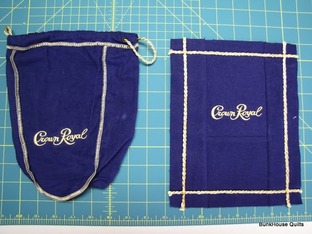 Crown Royal block using the cord!
