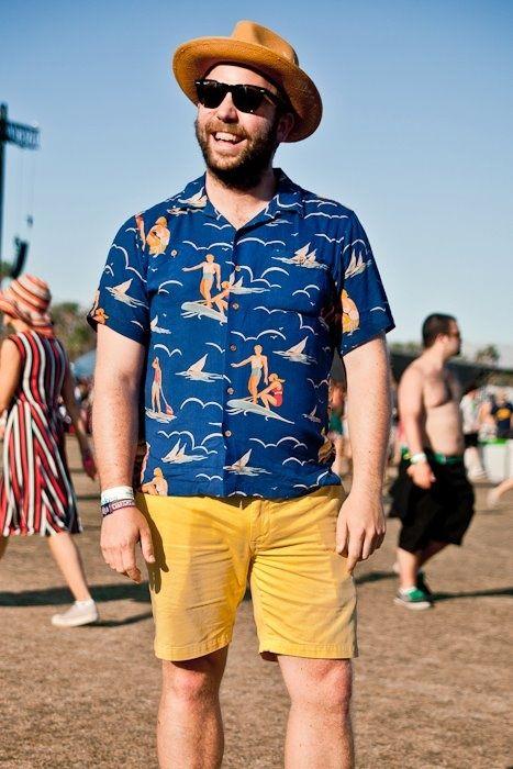Hawaiian shirts = Party animal.