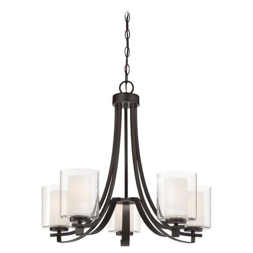 Minka Lavery 4105 5 Light 1 Tier Mini Chandelier from the Parsons Studio Collection