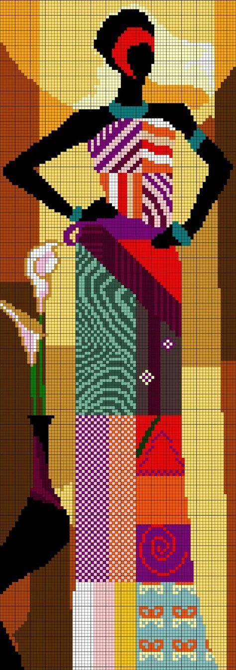 point de croix femme africaine - cross stitch african woman