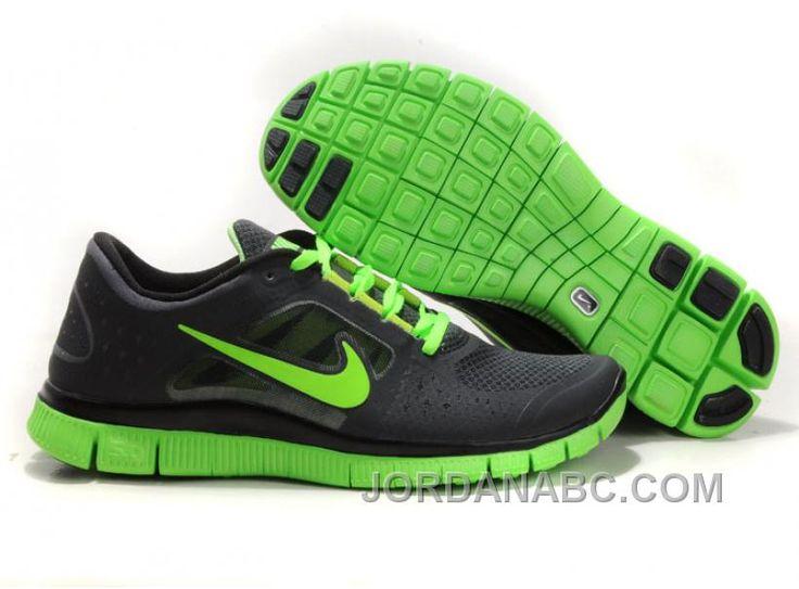 Nike Free 5.0 V4 Running Shoes Black Green