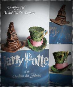 Marcador de Páginas Divertidos  -Chapéu Seletor Harry Potter    Marcador feito em papel resistente, decoração feita em biscuit.