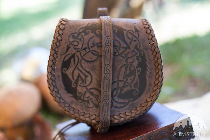 """Viking's Leather """"Wolf"""" Medium Bag  Available from: https://armstreet.com/store/accessories/vikings-leather-wolf-medium-bag"""