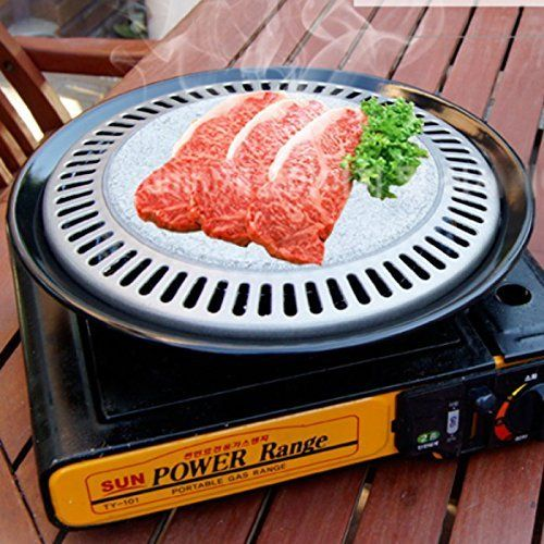 BBQ Stone Grill Stovetop Barbecue Steak Pork Belly Pan Korean BBQ Grill * Click on the image for additional details.