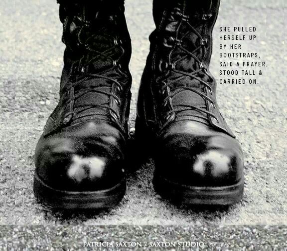 Do not forget our female soldiers! Usually had the best boots in the Bn.