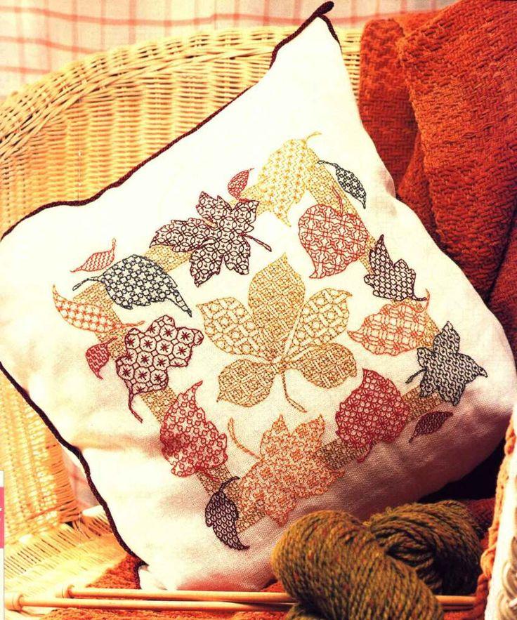 Схема для вышивки подушки в технике блэкворк (blackwork). / Вышивка / Схемы вышивки крестом