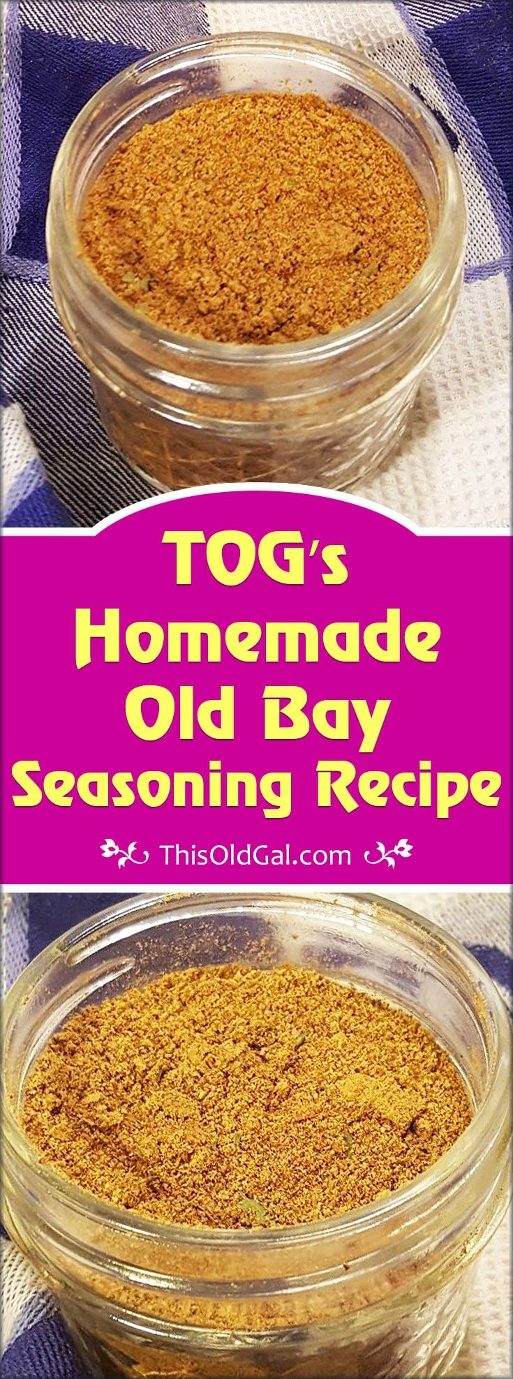 This Homemade Old Bay Seasoning Recipe is not just for Seafood and fish.  Try it on Chicken, Potatoes, French Fries and more. via @thisoldgalcooks