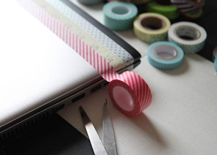 The DIY Cute Tape Laptop Makeover