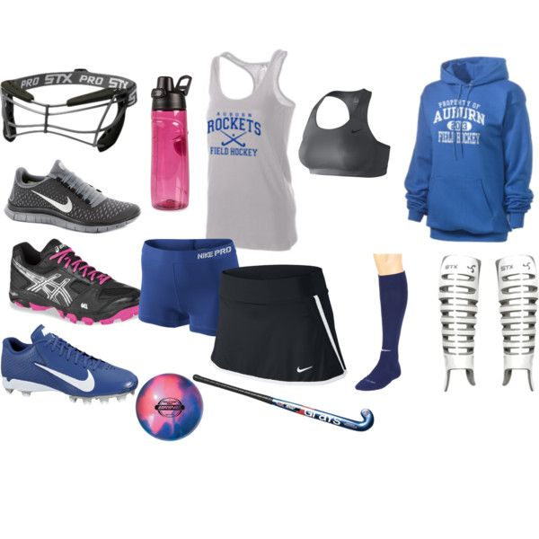 All you need for Field Hockey...'cept...woah, where's the sweatpants? And mouth guard but ohh well