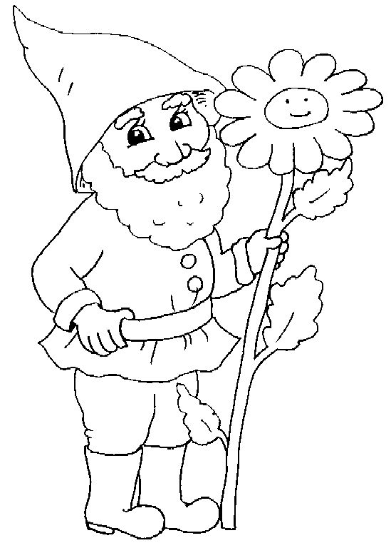 gnome coloring pages - printable gnome coloring pages craft pinterest