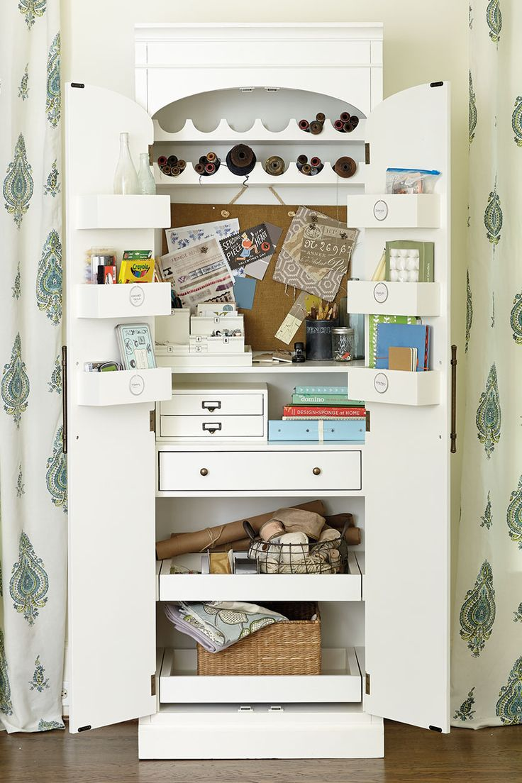Paulette pantry used as a craft closet
