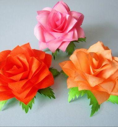 DIY Post-it note flower - paper rose (video tutorial) // Gyönyörű papír rózsák egyszerűen post-it jegyzettömb lapokból // Mindy - craft tutorial collection // #crafts #DIY #craftTutorial #tutorial