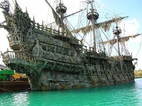 Awesome!!  The Black Pearl, Pirates of the Caribbean real life ship!