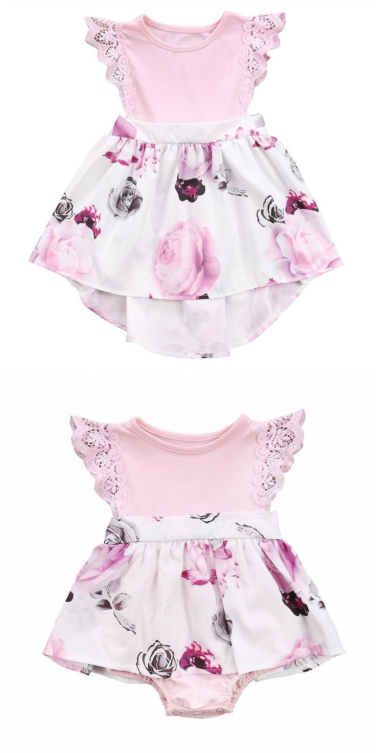 Family Sister Floral Matching Clothing Newborn Baby girls Kids lace Summer Floral Romper &Dress clothes outfits Toddler Clothing #newbornbabygirls