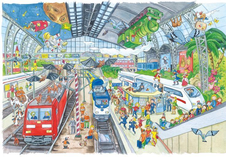 Praatplaat station voor kleuters / Hauptbahnhof