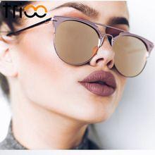 Trioo Зеркало розовое золото Солнцезащитные очки для женщин Для женщин круглый Элитный бренд женские Защита от солнца Очки для Для женщин Мод...(China (Mainland))