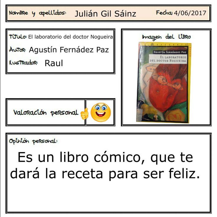 Julián recomienda esta lectura con la que ha superado el reto de leer un libro divertido, Además, podrás tener la receta para ser feliz ;-)