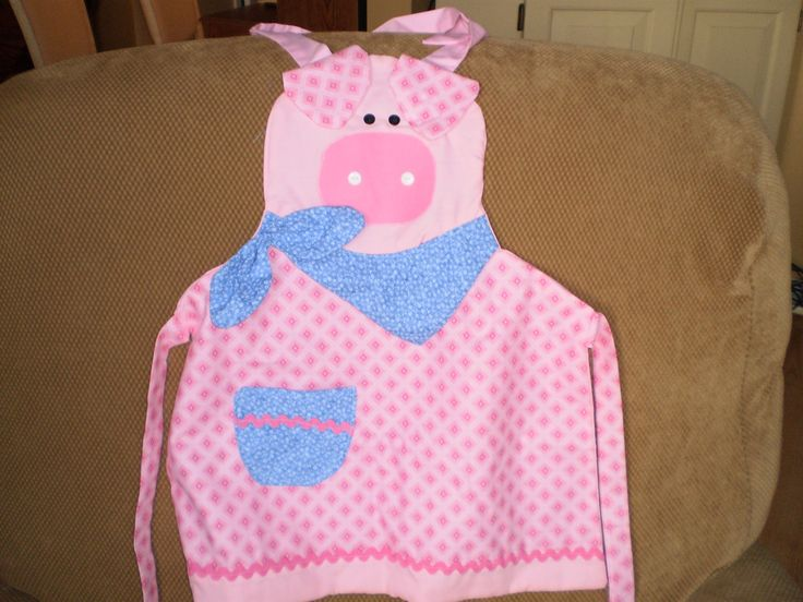 Pig Apron by ItzSewTime on Etsy