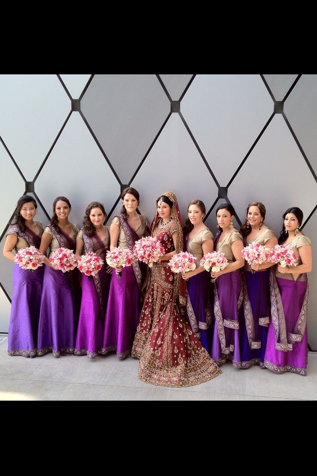 Indian wedding inspiration for bridesmaid dresses