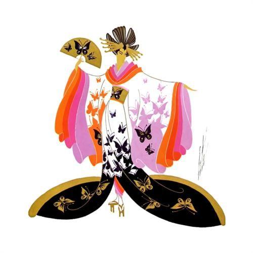 Madame Butterfly, Heroines - Erte