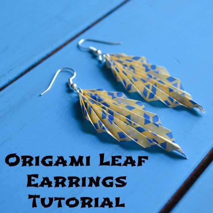 Origami Leaf Earrings Tutorial                                                                                                                                                                                 More