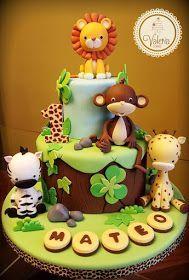 WhiteBegonvil: Modelle für Geburtstagstorten im Safari-Stil – #Baby Cakes   – baby kuchen