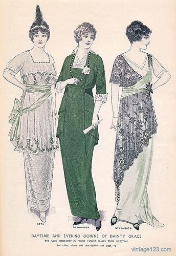 March 1914 Fashion, from a vintage McCall's magazine
