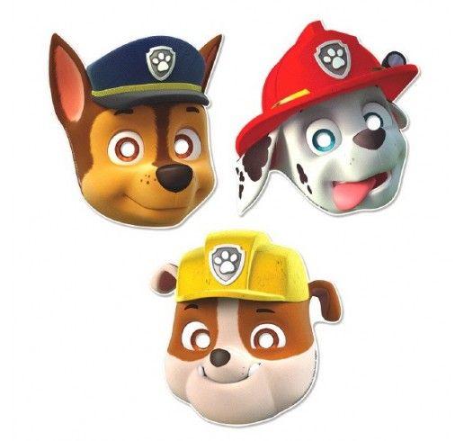 Pat' Patrouille - Masques en Carton 8/pqt