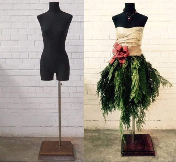 Dress Form Christmas Tree Tutorial by MannequinMadness on Etsy