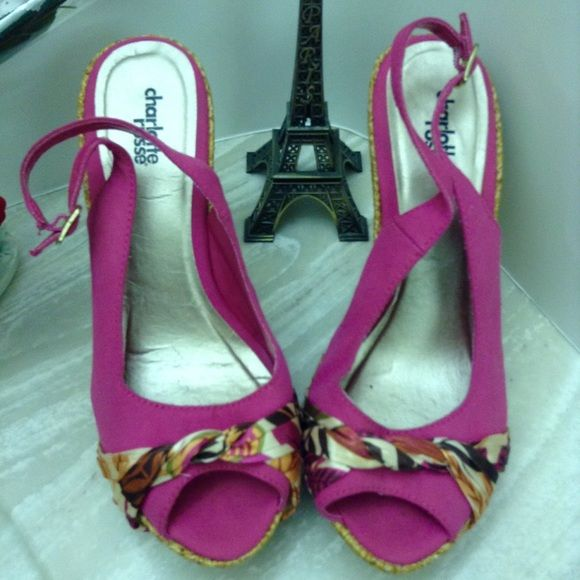 ❤FLASH SALE❤Charlotte Russe wedges Worn 2-3 times, kept in great condition  Charlotte Russe Shoes Wedges