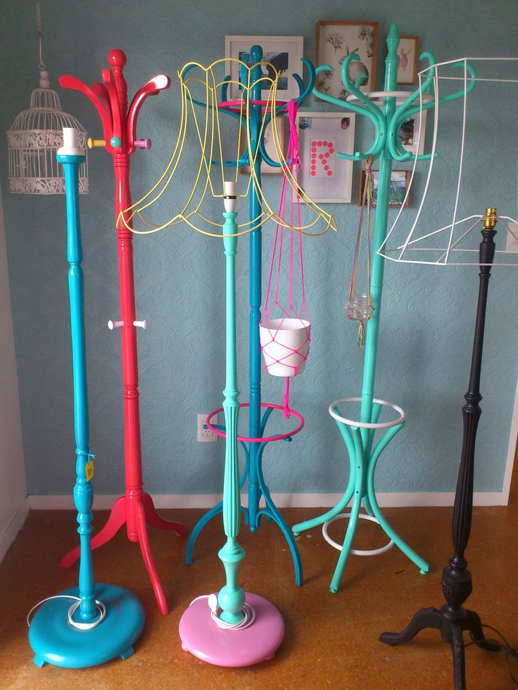 Coat stands and lamps by https://www.facebook.com/HeidiAltmannInteriorDesign