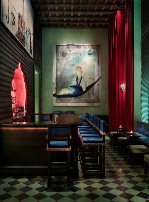 The Gramercy Park Hotel | This opulent and over-the-top hotel decked out with pieces from Basquiat, Warhol, and Botero.