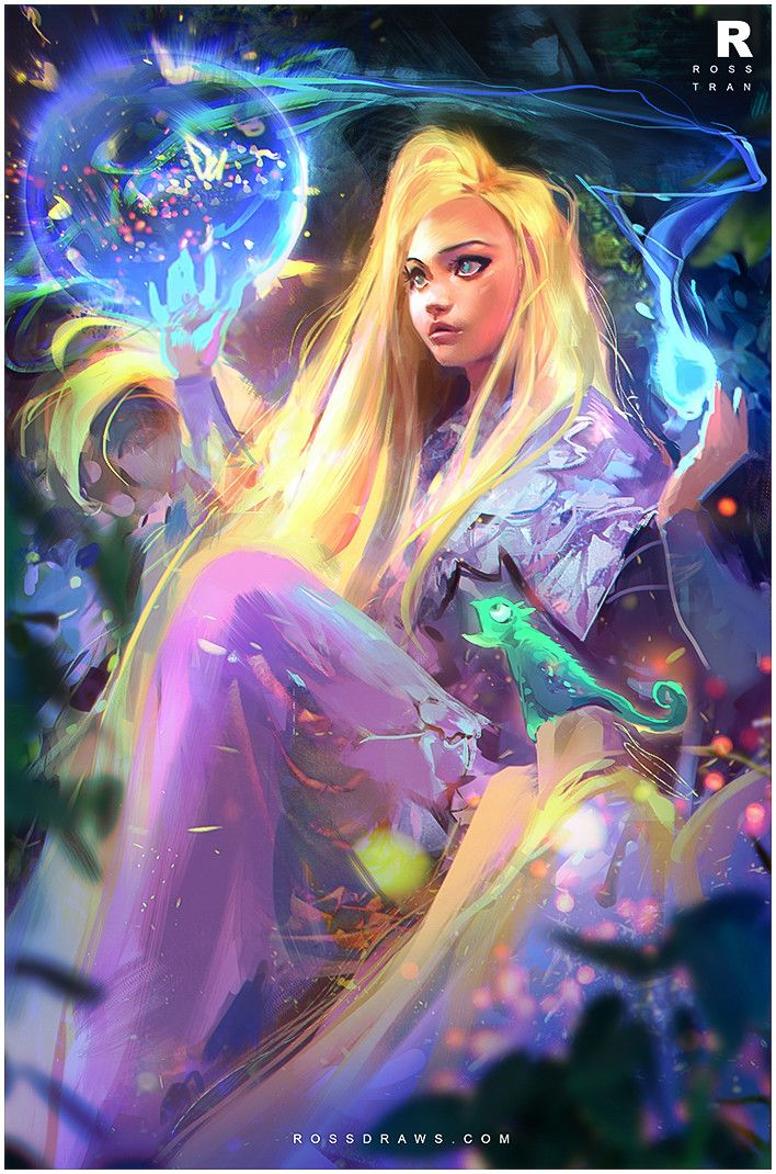 Tangled / Rapunzel! , Ross Tran on ArtStation at https://www.artstation.com/artwork/tangled-rapunzel