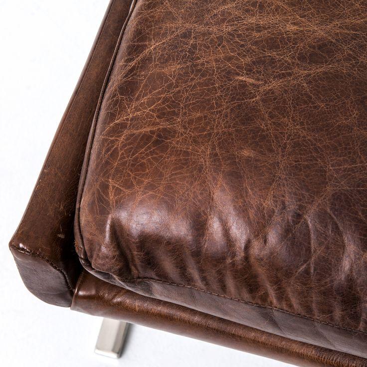 Leather and Chrome Chair - Heathrow Lounge Chair - Piece + Palette