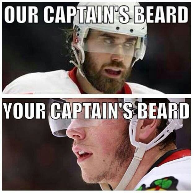 Detroit Red Wings (C) Henrik Zetterberg. Sorry not sorry Chicago Black hawks (C) Johnny Toews.