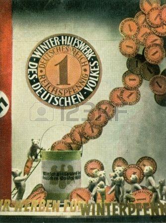 CIRCA 1933: Rare German vintage cigarette card from the 1933 Der Staat der Arbeit und des Friedens album, Part 2, Picture 218. Stock Photo