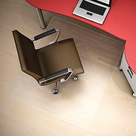Deflecto Polycarbonate Hard Floor Straight Edge Chair Mat Size: H X