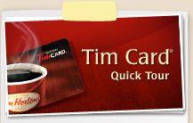 Tim Hortons Card
