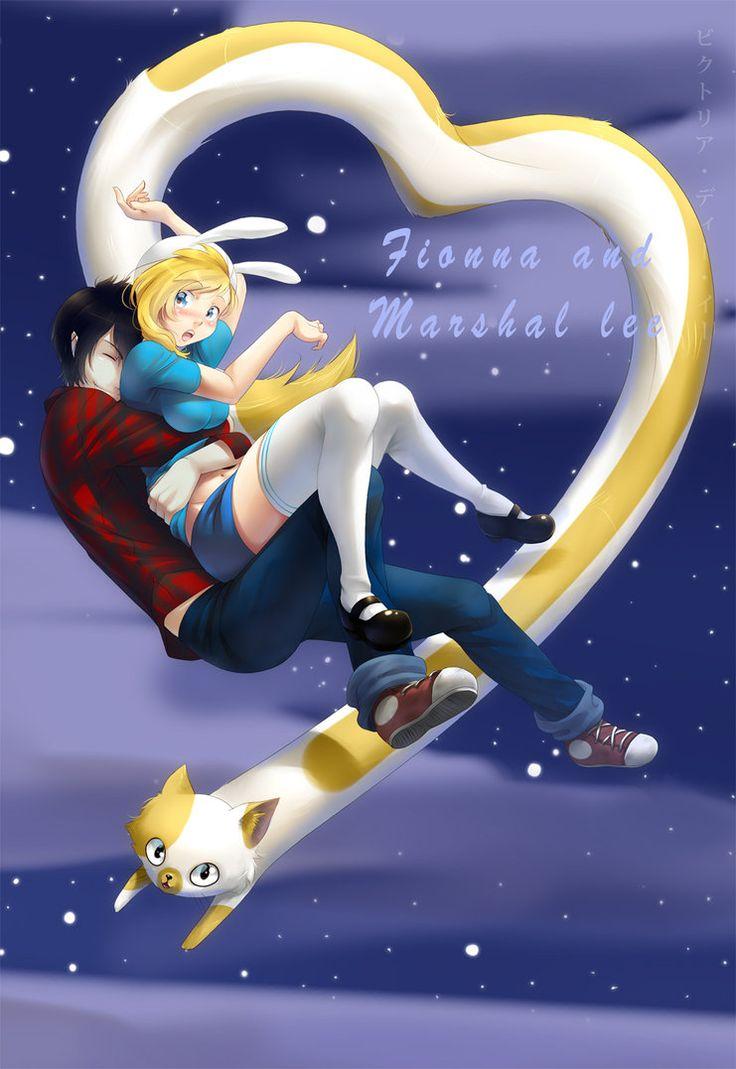 adventure time fionna and marshall lee anime | fionna and marshall lee by…