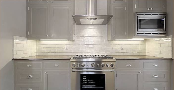 Amazing Gray Kitchen With Gray Kitchen Cabinets With Honed