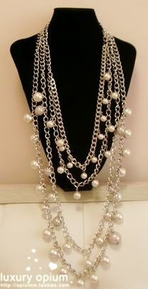 Simply VERA WANG Multi-layer Chain Pearls Sweater Women Cheap Necklace VW108N29 [SD371] - $40.00 - lucky brand , j.crew , lia sophia jewelry on sale !