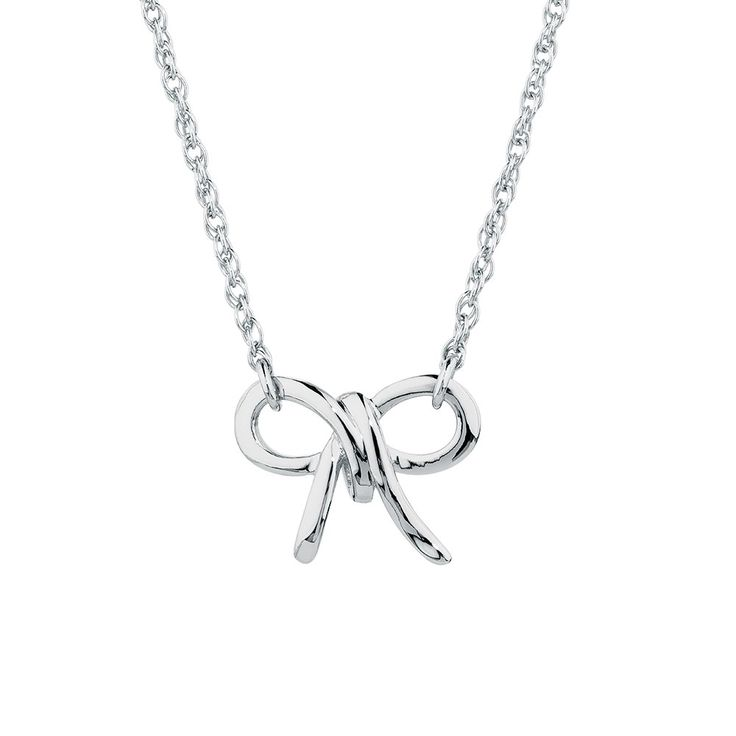 Bow Necklace in Sterling Silver
