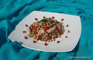 Colorful black eyed pea salad