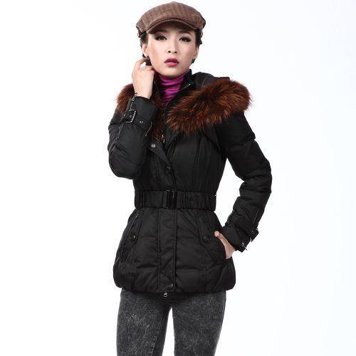 Snow Flying Winter Outwear Women's Slim Fit Short Feather Hooded Down Jacket XR9056 Bosideng. $133.80