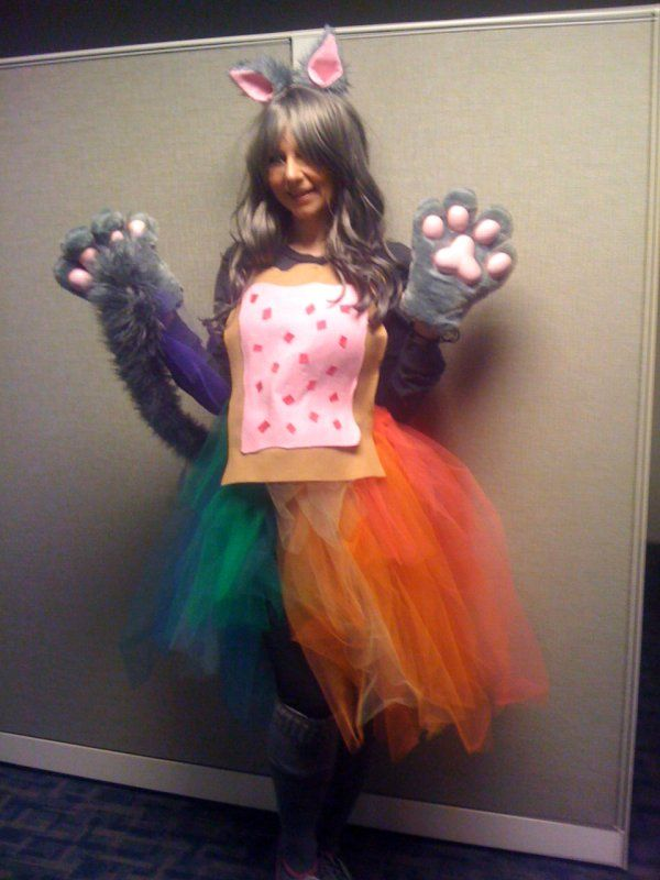 Hey, that's ME! I found a pic of my Nyan Cat Girl costume on Pinterest! :D