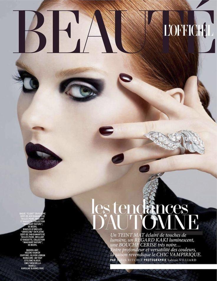 Karoline Bjørnelykke | makeup by Helene Vasnier | hair by Olivier Lebrun | manicure by An Thuy | photography by Sabine Villiard | L'Officiel Paris September 2012