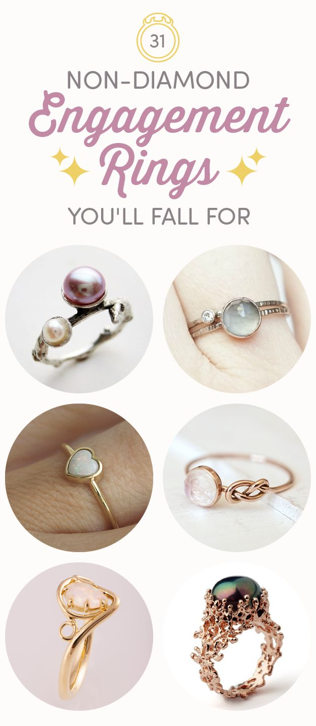 31 Gorgeous Nondiamond Engagement Rings You'll Totally Fall For